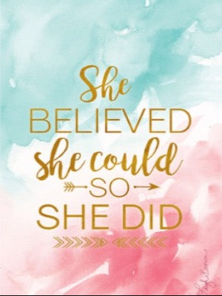 Scented Sachet - She Believed She Could So She Did