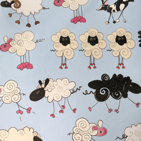Sheep Gift Wrap and Gift Tag