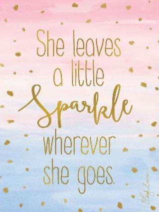 Scented Sachet - She Leaves A Little Sparkle