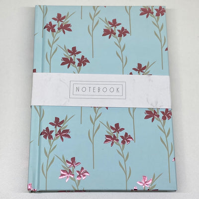 Half Lined A6 Notebook - Flowers