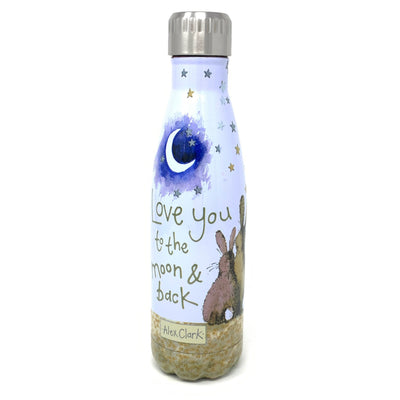 Alex Clark - Love You To The Moon And Back Rabbit Water Bottle