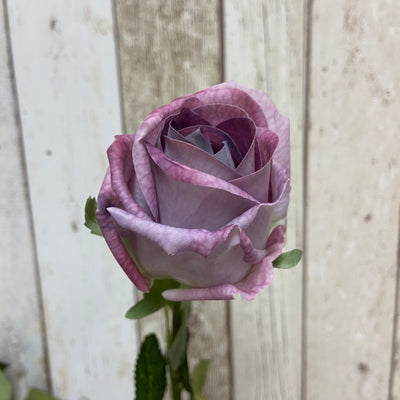 Artificial 'Feel Real' Rose Stem-Lilac