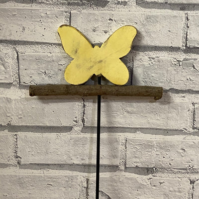 Wooden Butterfly on a Stick