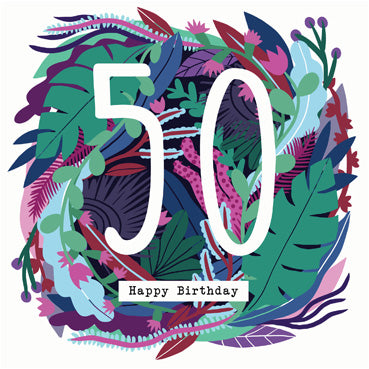 '50' Happy Birthday Card
