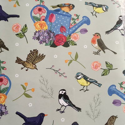 Garden Birds Gift Wrap and Gift tag