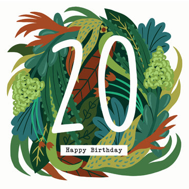 '20' Happy Birthday Card