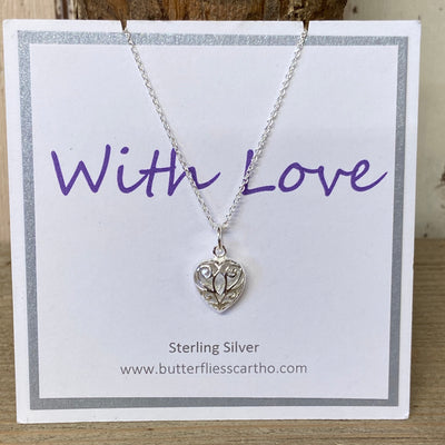 Sterling Silver Small Filigree Heart Pendant