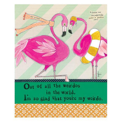 You're My Weirdo Flamingo Card