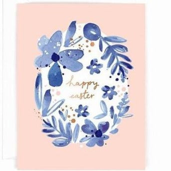 Happy Easter Floral Pack Of 5 Cards