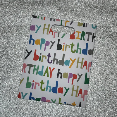 Gift Bag - Happy Birthday Print