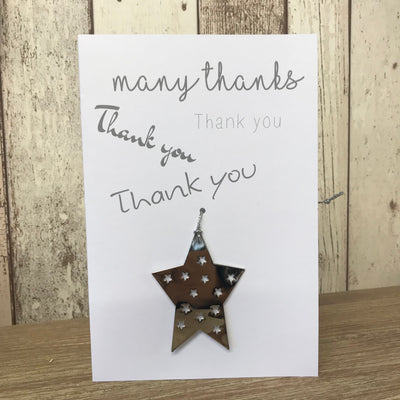 Retreat Thank You Card With Hanging Decoration