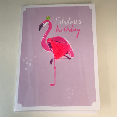 Fabulous Flamingo Birthday Card