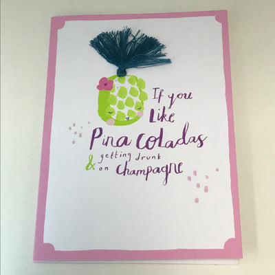 Pina Coladas Birthday Card