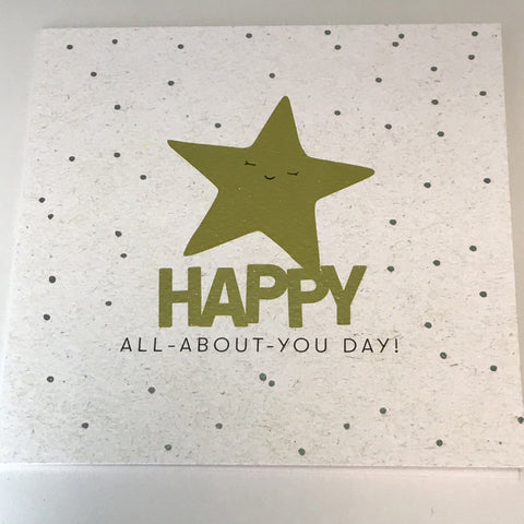 'Happy All About You Day' Card