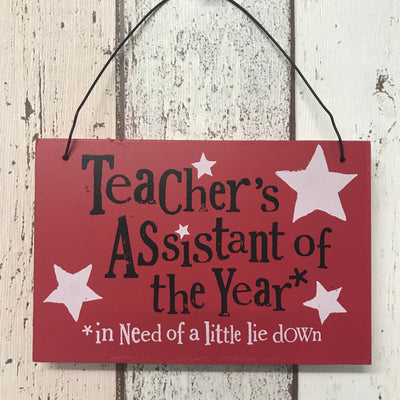 Teaching Assistant Of The Year Plaque