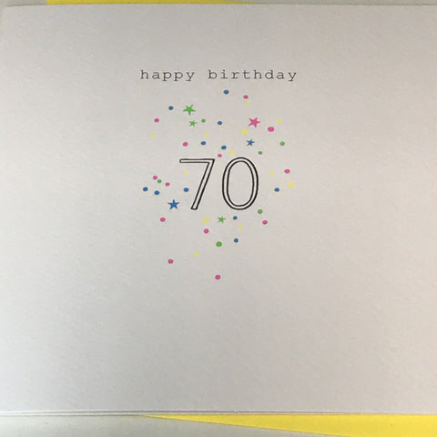 Happy Birthday 70 Card