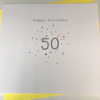 Happy Birthday 50 Card