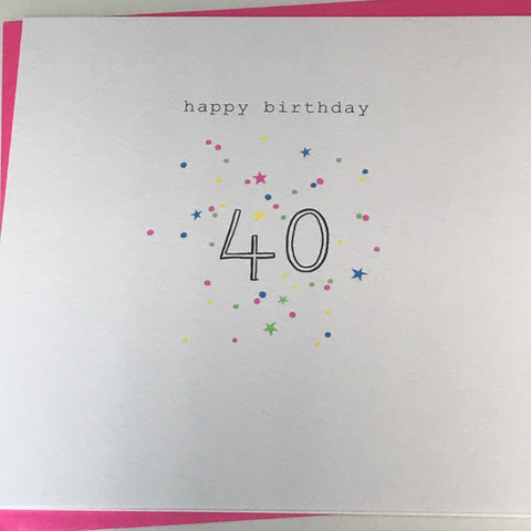 Happy Birthday 40 Card