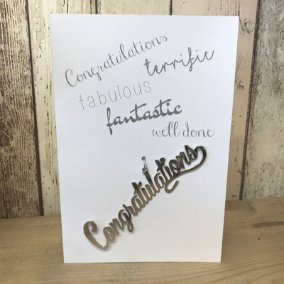Retreat Congratulations Card With Hanging Decoration