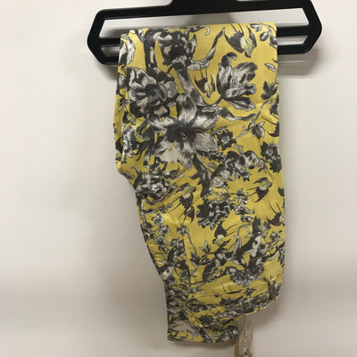 Lemon & Grey Floral Soft Feel Coated Toxic Jeans