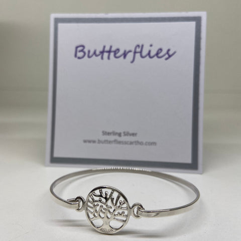 Sterling Silver Tree Of Life Bangle