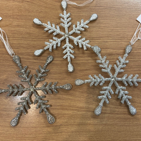Retreat - Beaded Snowflake
