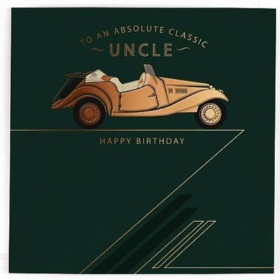 Uncle Classic Car Birthday Card