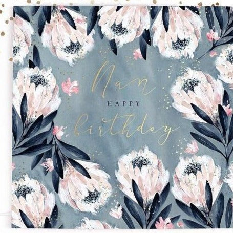 Nan Flower Birthday Card