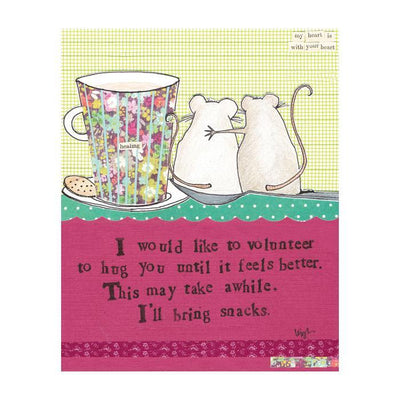 Hug Until You Feel Better Mouse Card