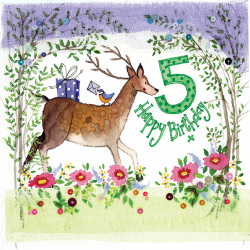 5th Birthday Deer 5 Year Old