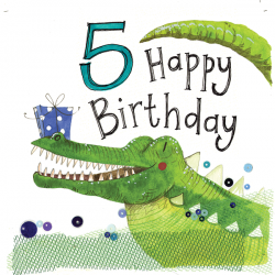 5th Birthday Crocodile Card