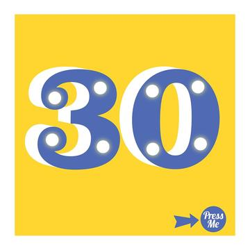 30th Light Up Birthday Card