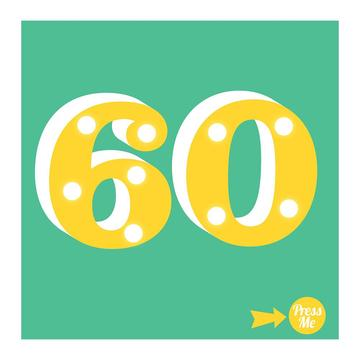 60th Light Up Birthday Card
