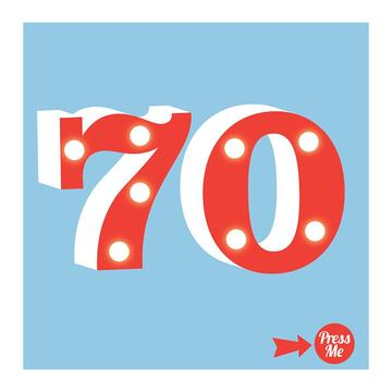 70th Light Up Birthday Card