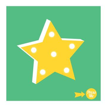 Star Light Up Symbol Card