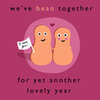 Anniversary Bean Card
