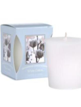 White Cotton Votive Candle