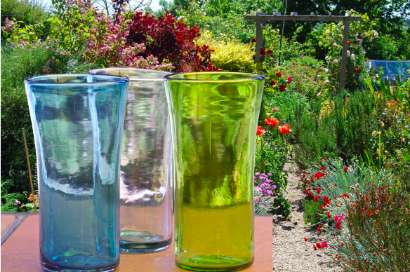 Orion Lily Glasses featuring Artisan, Handcrafted Mexican Glassware