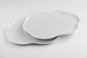 Organic Design Porcelain Platter - Set of 6 - Orion's Table