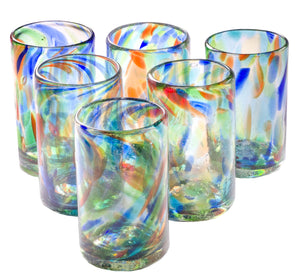 Orion Solid Confetti 16 oz Tumbler - Set of 6 - Orion's Table Mexican Glassware