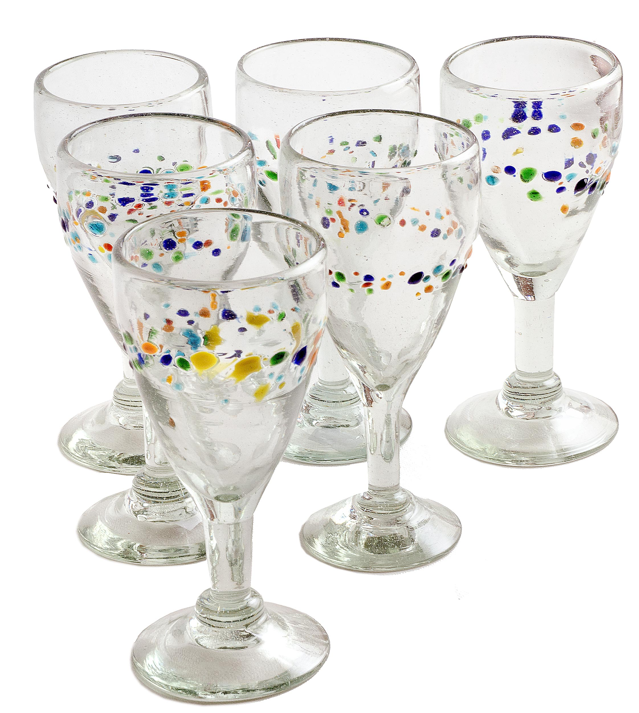 Orion Tutti Frutti 9 oz Copa Vino - Orion's Table Mexican Glassware
