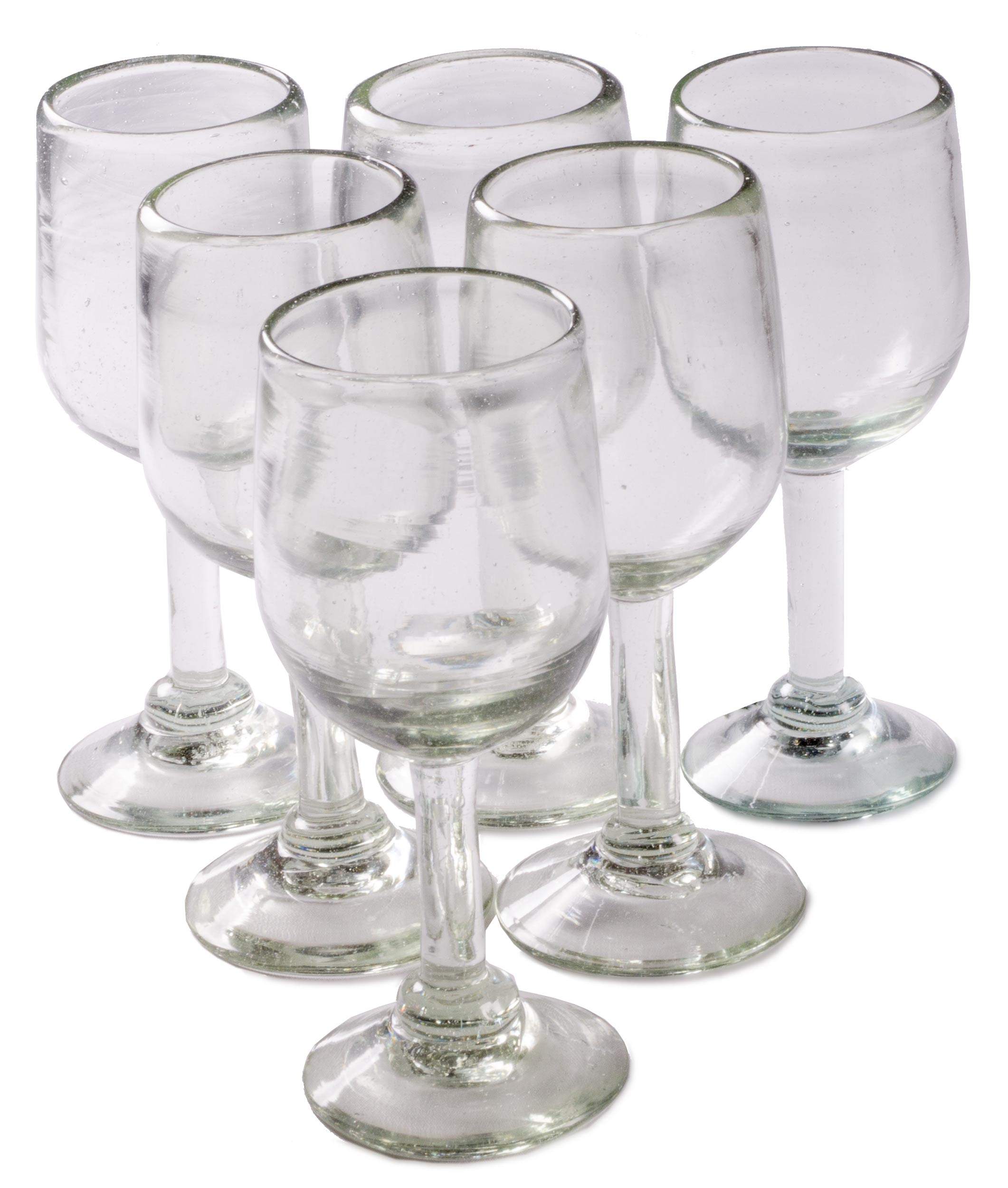 Orion Natural 11 oz Tulip Wine - Set of 6 - Orion's Table Mexican Glassware
