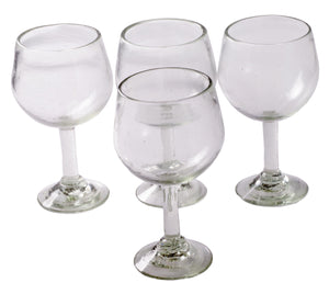 Orion Natural 16 oz Large Wine Glass - Set of 4 - Orion's Table Mexican Glassware