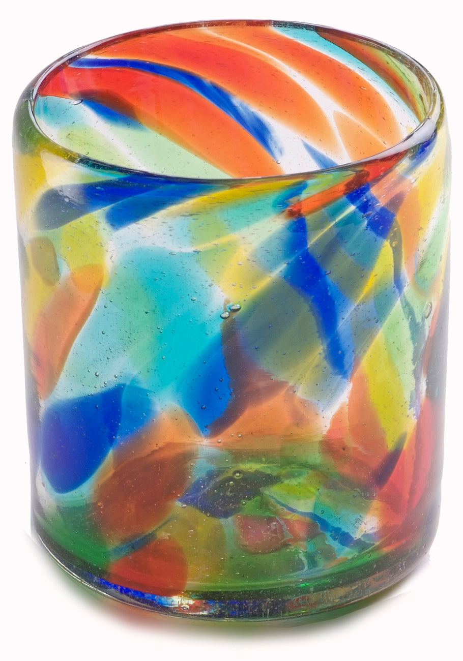 Orion Solid Confetti 12 oz All Purpose - Set of 6 - Orion's Table Mexican Glassware