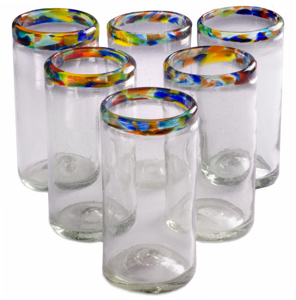 Orion Confetti Rim Perfecto Tumbler 16 oz. - Set of 6