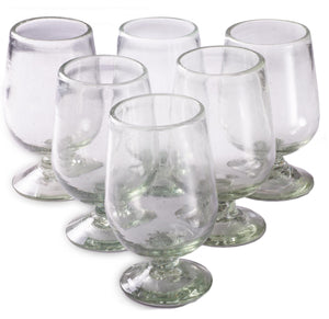 Orion Natural 16 oz Copa Aqua Short - Set of 6 - Orion's Table Mexican Glassware