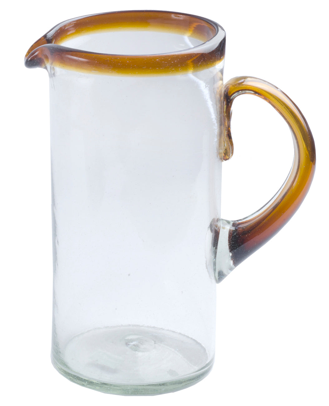 Orion Amber Rim 56 oz Pitcher - Orion's Table Mexican Glassware