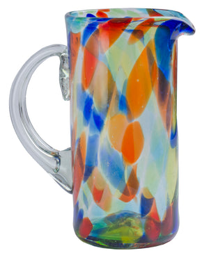Orion Solid Confetti 56 oz Pitcher - Orion's Table Mexican Glassware