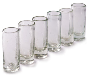 Orion Natural 2 oz Shot Glass - Set of 6 - Orion's Table Mexican Glassware