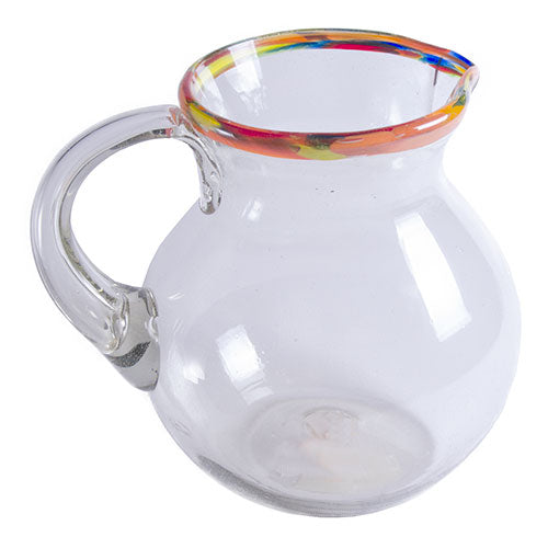 Orion Confetti Rim 80 oz Bola Pitcher - Orion's Table Mexican Glassware